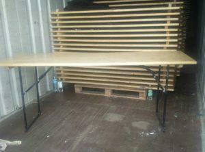 Стол деревьянный  для Бытовок (Длина: 200 см Ширина: 60 см м Высота: 76 см)