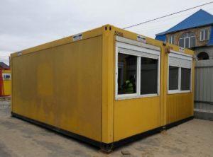 Бытовка штаб, Мобильный офис (6 х 4.8 х 2.7 м)