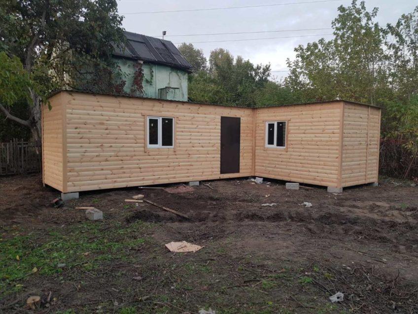 Бытовка из блок-хауса — дачный домик